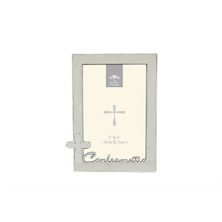 Silver Plated Confirmation Photo Frame 4 x 6